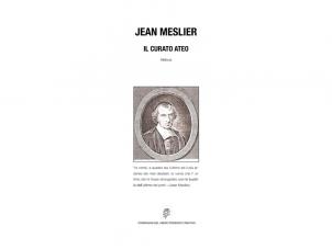 Jean Meslier. Il curato ateo